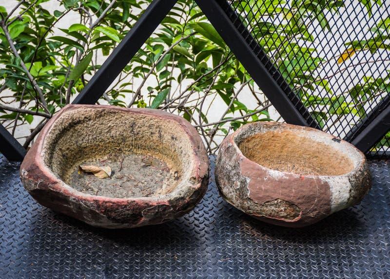 Envase de piedra, antigüedad, retra foto de archivo