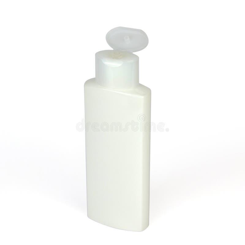 Envase de plástico blanco imagen de archivo