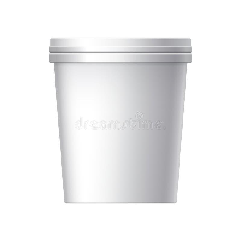 Envase de plástico en blanco blanco libre illustration