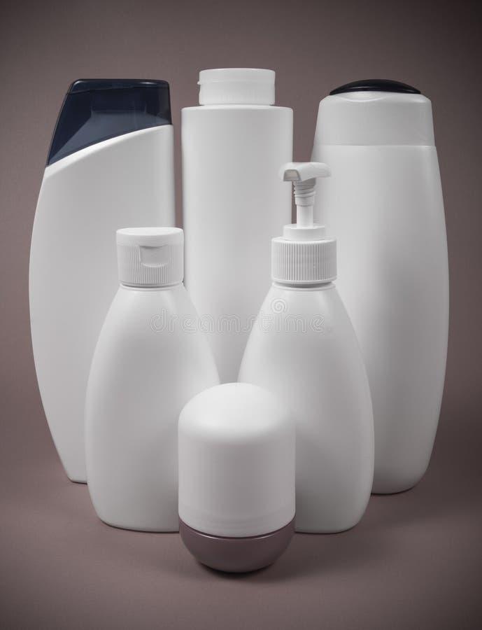 Envase de plástico de los cosméticos Reciclaje de concepto imágenes de archivo libres de regalías