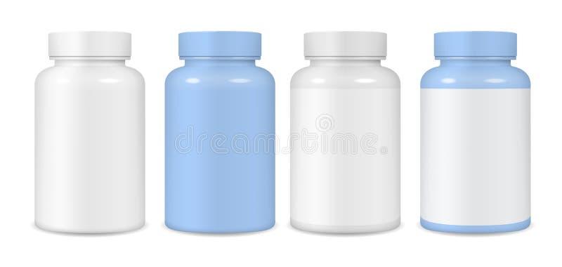 Envase de plástico para las tabletas y las píldoras fotografía de archivo libre de regalías