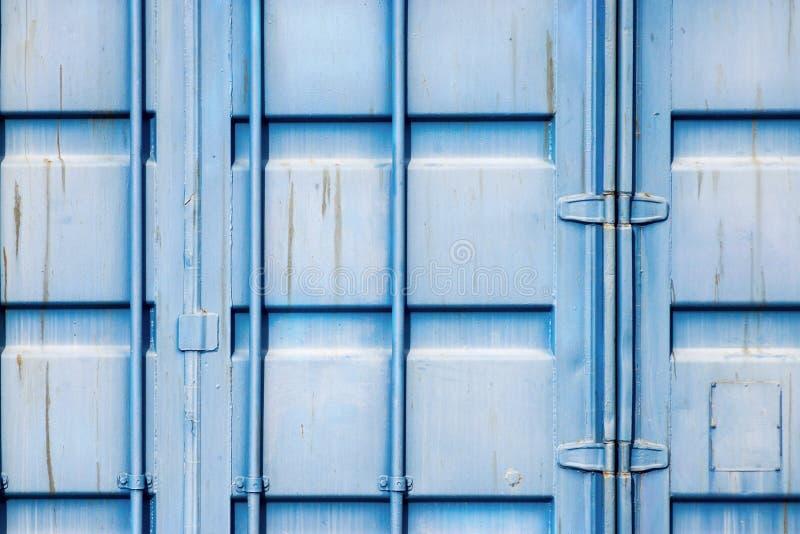 Envase del hierro del cargo del fragmento de color azul imágenes de archivo libres de regalías