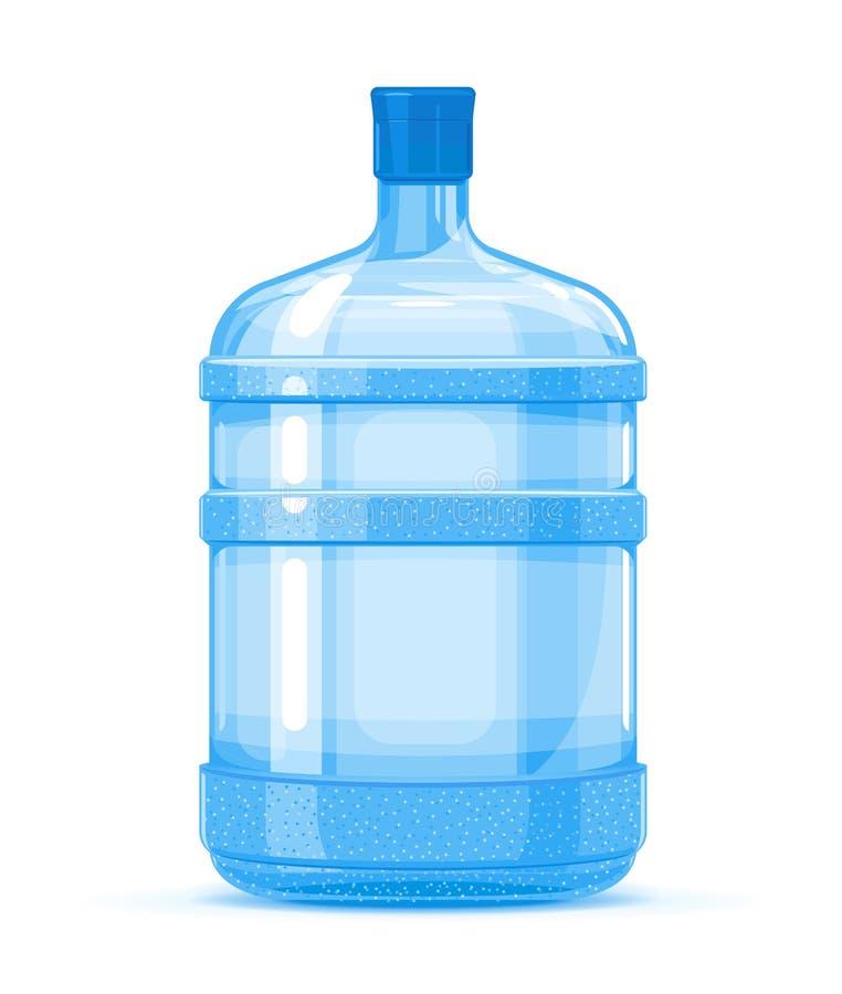 Envase plástico de la botella de agua stock de ilustración