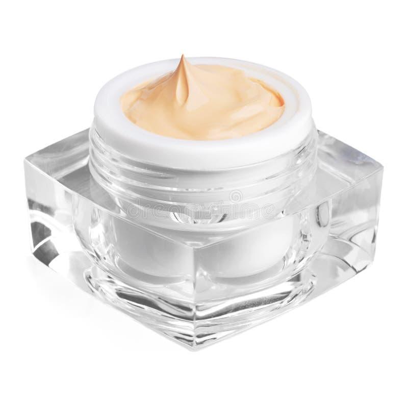 envase poner crema cosmético aislado en blanco fotografía de archivo libre de regalías