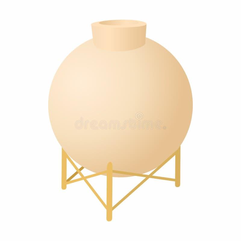 Envase redondo para el icono químico de los líquidos libre illustration
