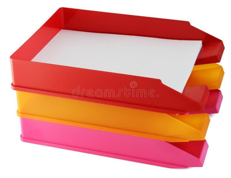 Envases de plástico para el papel imágenes de archivo libres de regalías