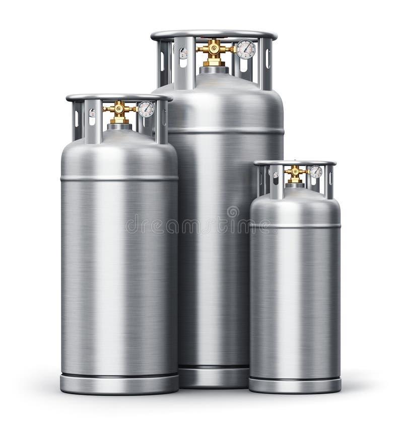 Envases industriales de alta presión del acero inoxidable stock de ilustración