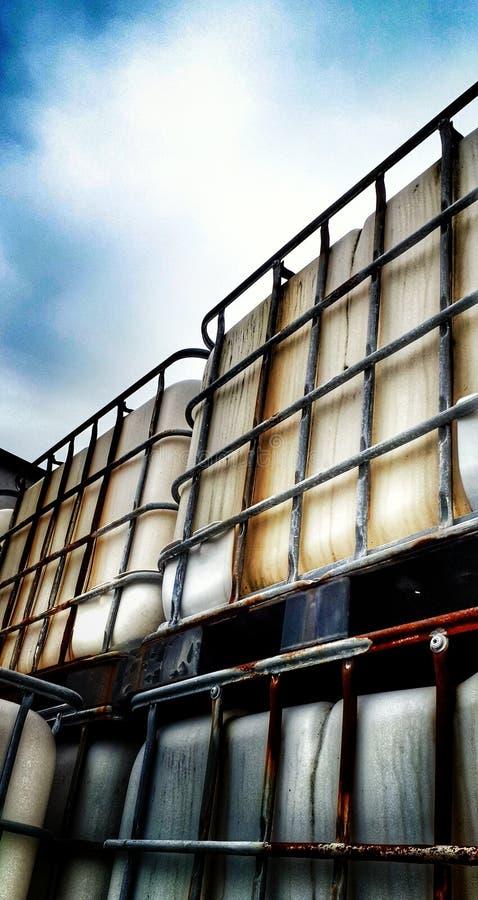 Envases oxidados imagen de archivo libre de regalías