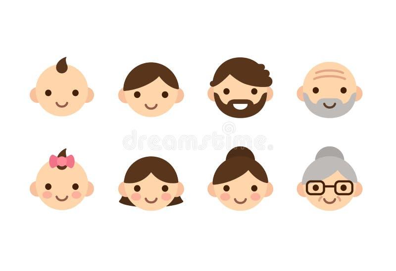 Envejece iconos libre illustration