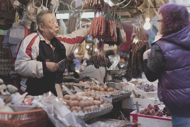 Envejecimiento de la población en Hong Kong imagen de archivo libre de regalías