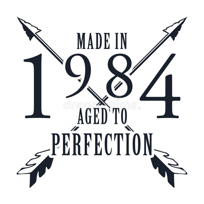 Envelhecido à perfeição Vetor dos gráficos do t-shirt ilustração stock