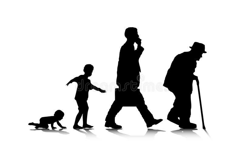 Envelhecimento humano ilustração stock