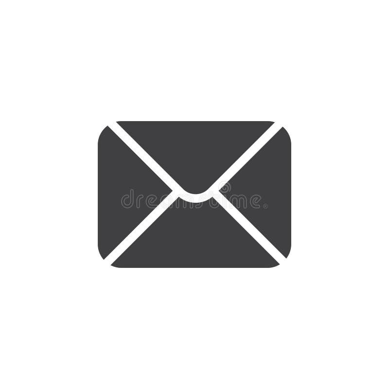Envelop black icon royalty free illustration