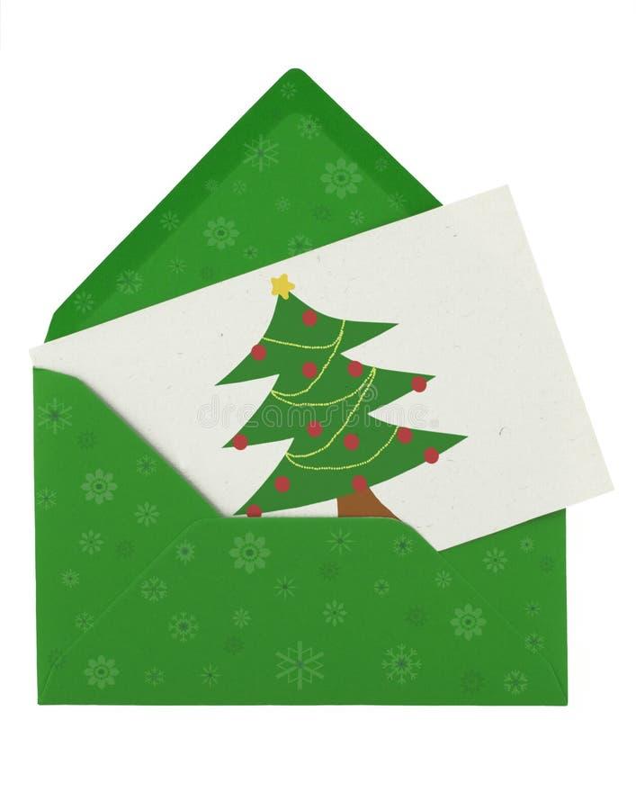 Envelop en Kerstmisnota royalty-vrije stock afbeelding