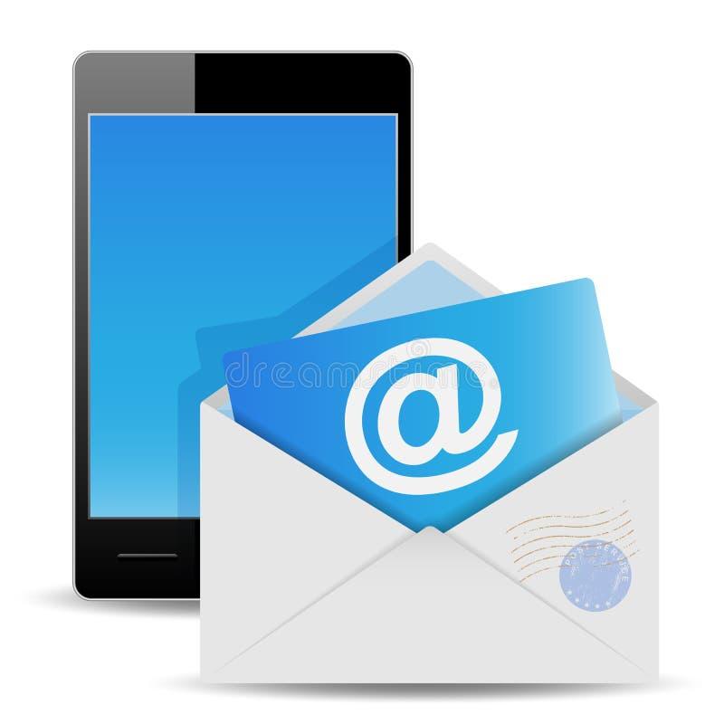 Envelop en telefoon vector illustratie