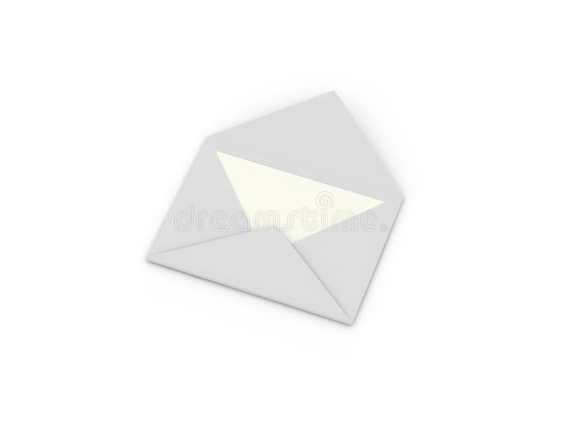 Envelop met brief vector illustratie