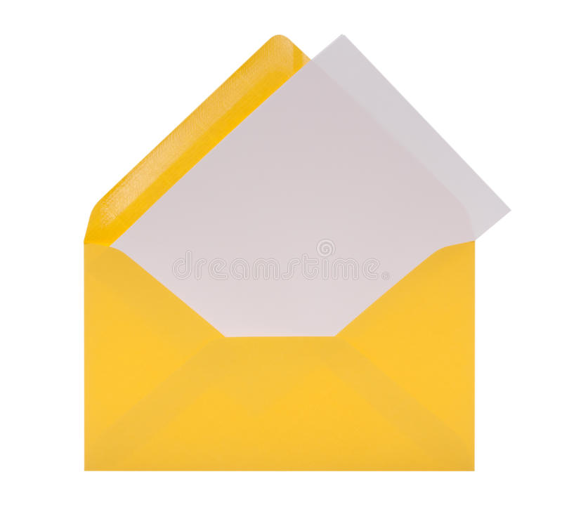 Envelop met brief-papier en het knippen weg royalty-vrije stock foto's