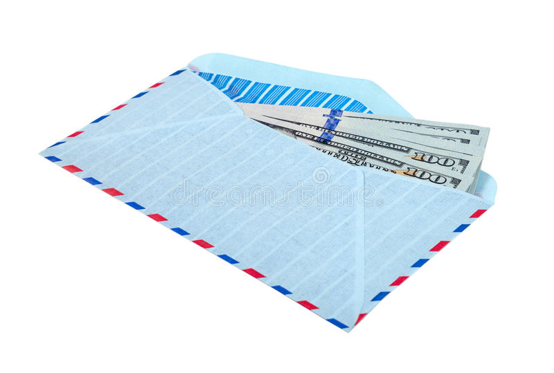 Envelop met contant geld in dollars royalty-vrije stock afbeeldingen