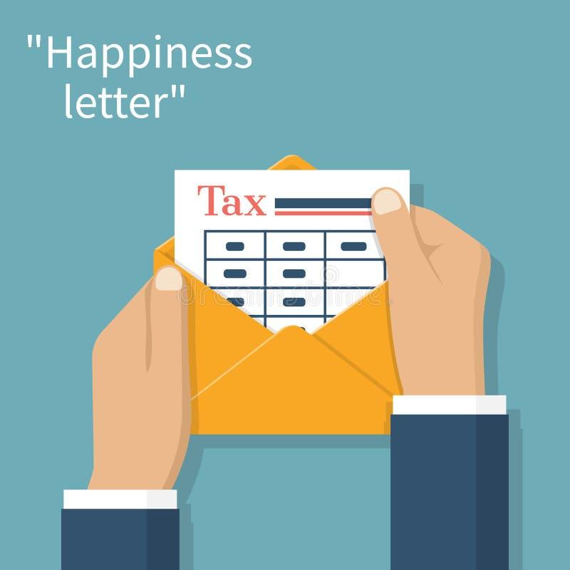 Envelop met de belastingen van de vormbetaling stock illustratie