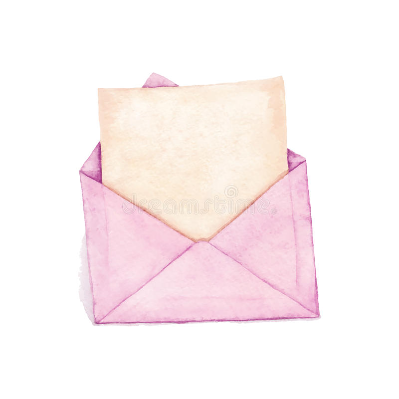 Envelop met een brief vector illustratie