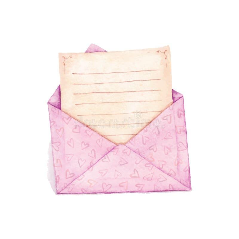 Envelop met een brief stock foto