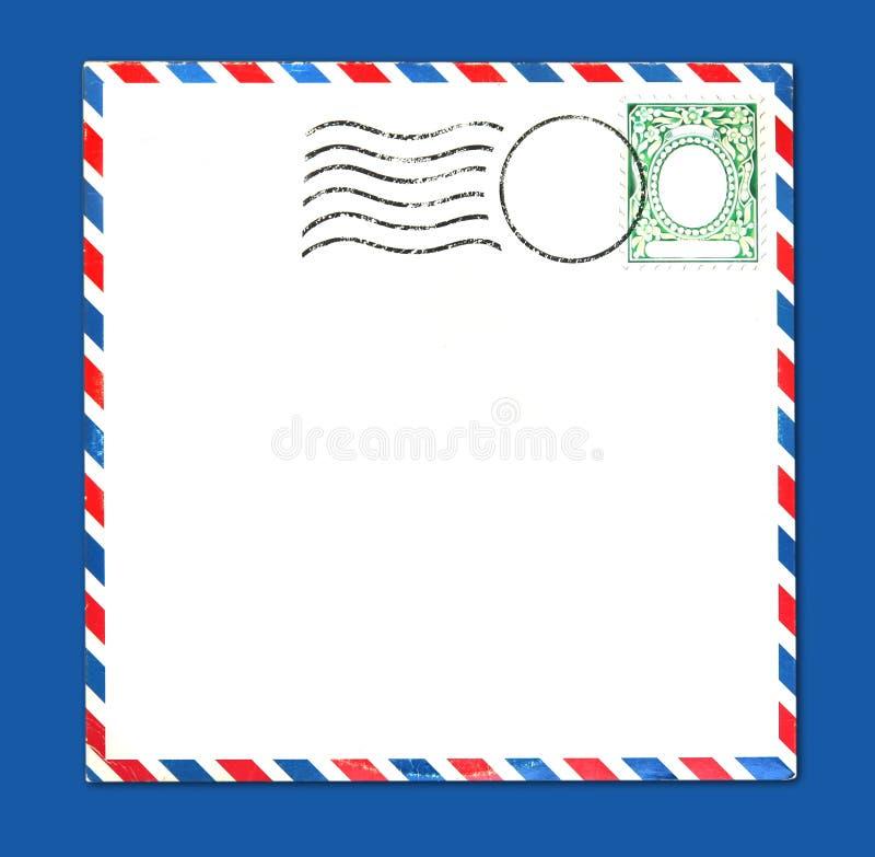 Envelop met PostZegel en Strepen stock afbeelding
