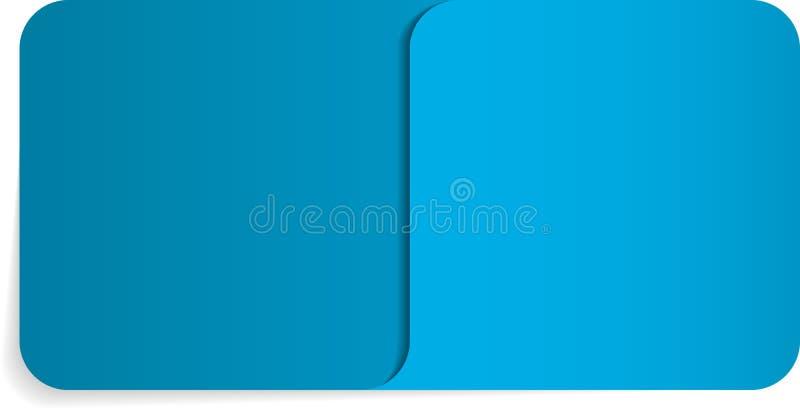Envelop met speciale hoek voor documenten stock illustratie
