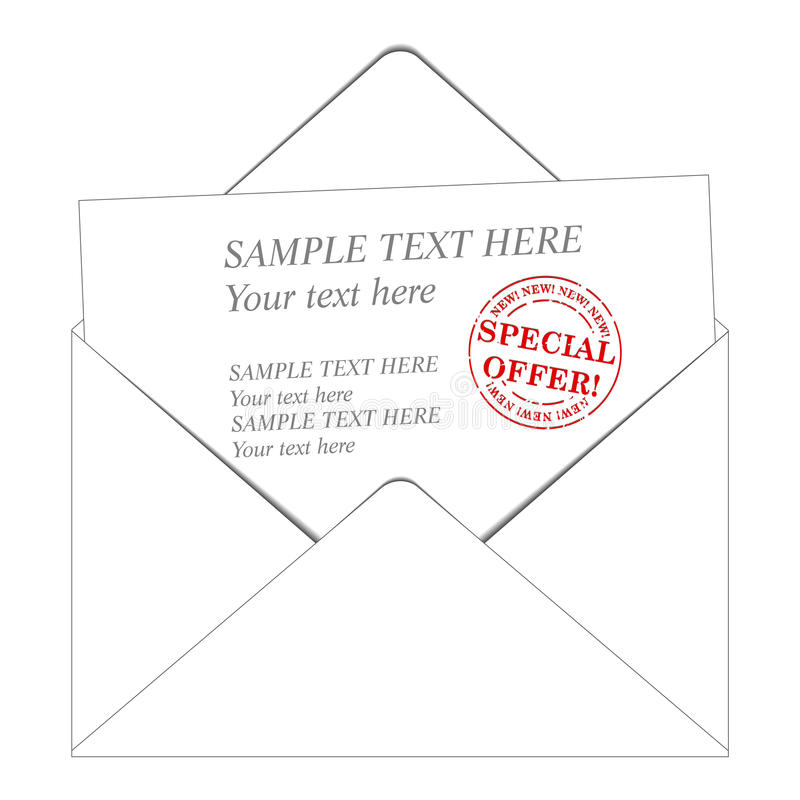 Download Envelop and paper stock vector. Image of grunge, greetings - 9829411
