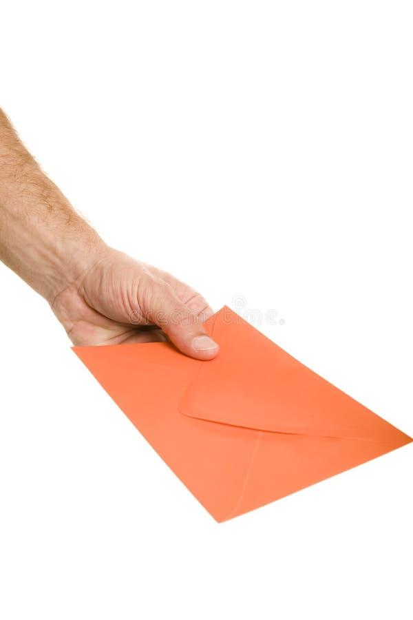 Envelop ter beschikking stock afbeelding