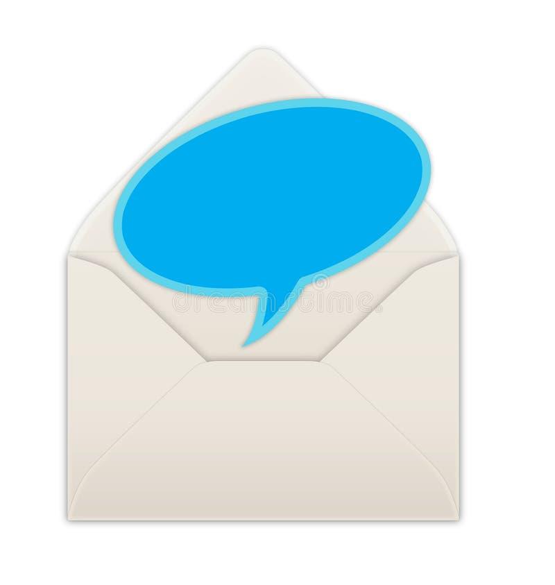 Envelope. Speech balloon in an envelope stock illustration
