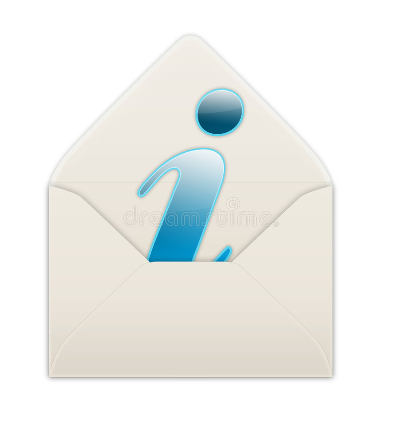 Envelope. Info sign in an envelope royalty free illustration