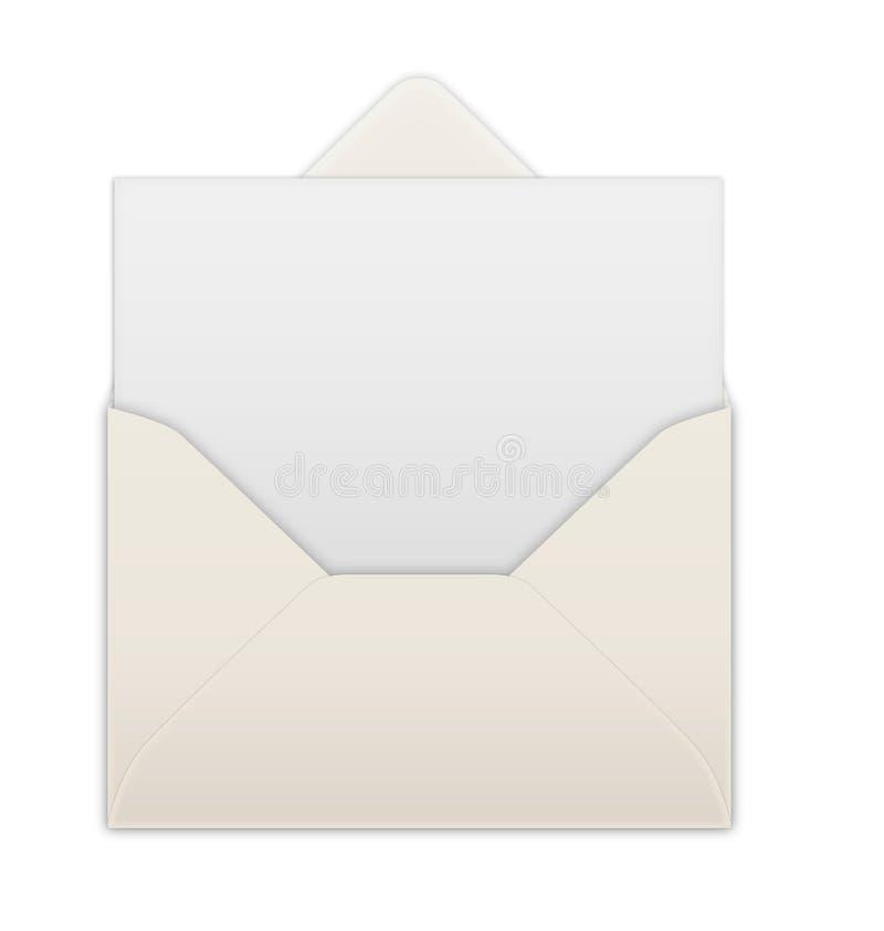 Envelope. Blank card in an envelope vector illustration