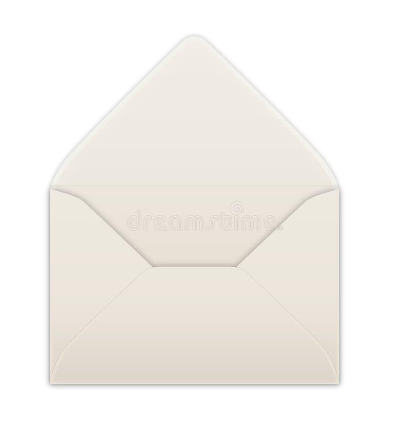 Envelope. An empty opened envelope illustration royalty free illustration