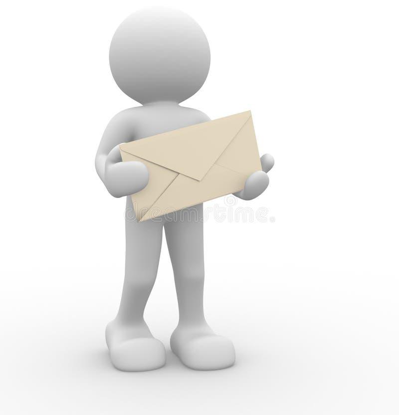 Envelope ilustração stock