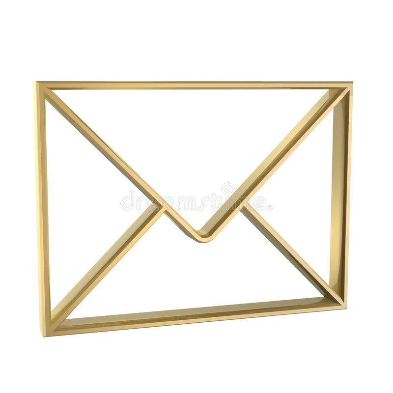 Envelope royalty free illustration