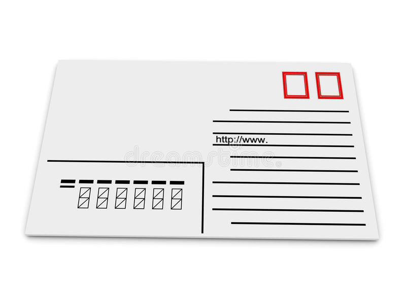Download Envelope with address stock illustration. Image of business - 12556222