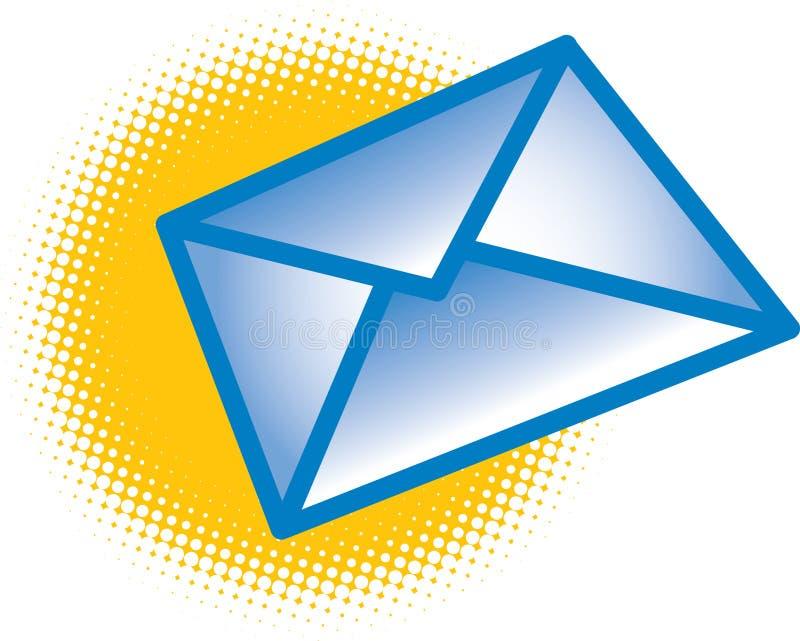 Envelope azul ilustração royalty free