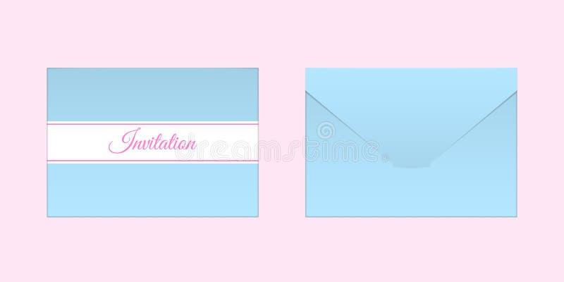 Envelope azul decorativo Zombaria do vetor acima ilustração do vetor