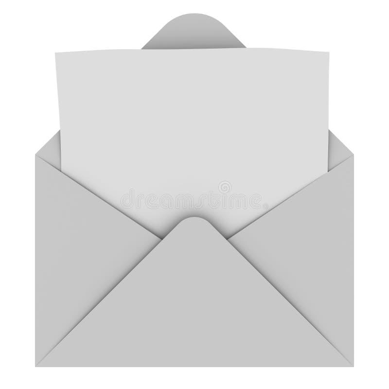 Envelope with blank letter royalty free illustration