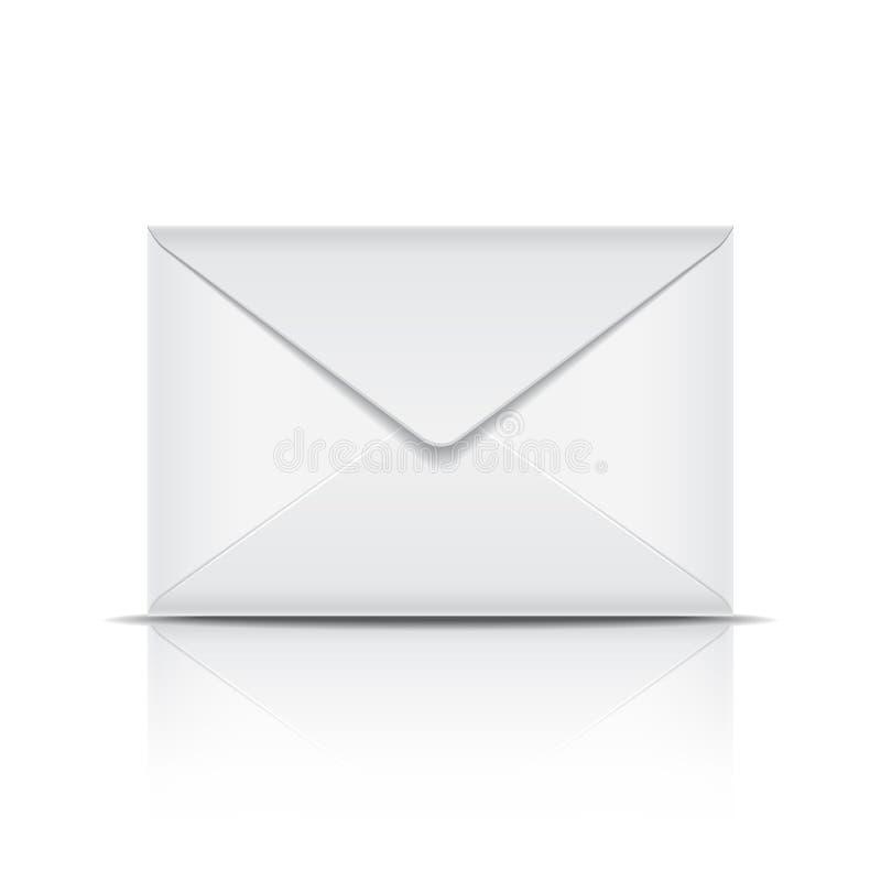 Envelope branco ilustração stock