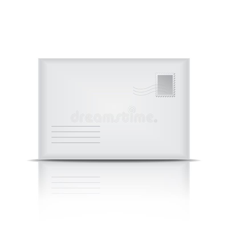 Envelope branco ilustração do vetor