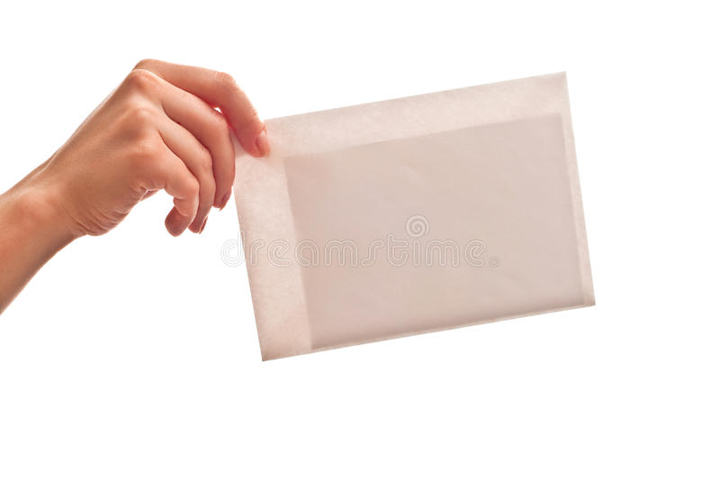 Envelope branco com letra imagem de stock