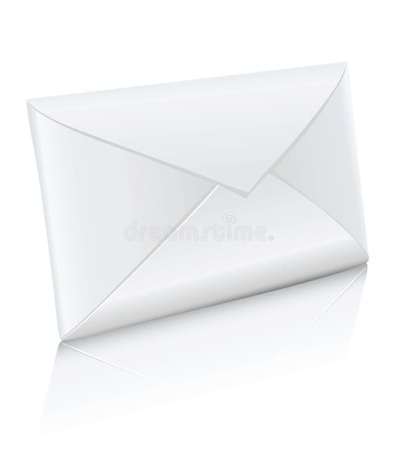 Envelope branco fechado ícone do correio do vetor ilustração do vetor