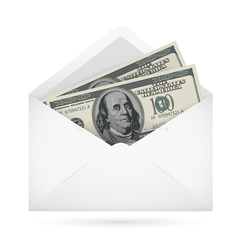 Envelope com dinheiro ilustração royalty free