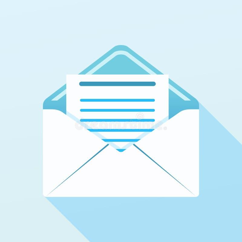 Envelope com letra ilustração do vetor