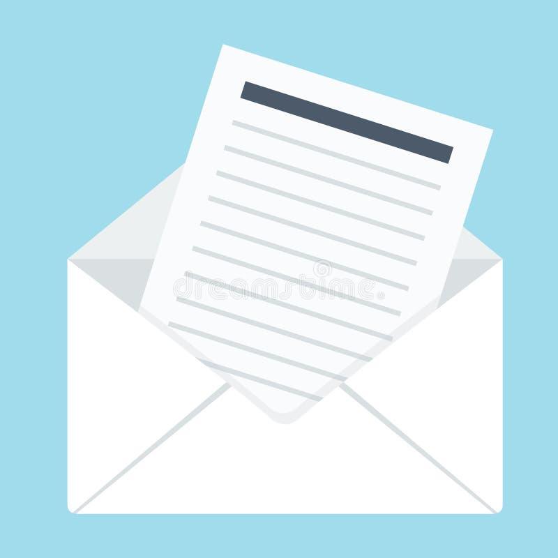 Envelope com letra ilustração stock