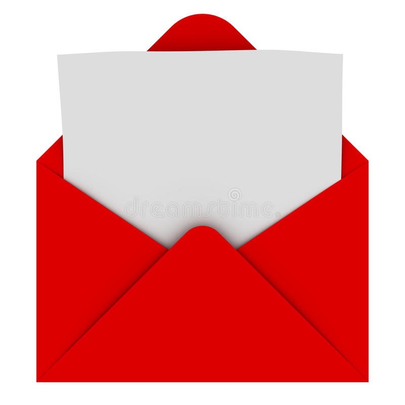 Envelope com letra em branco ilustração do vetor