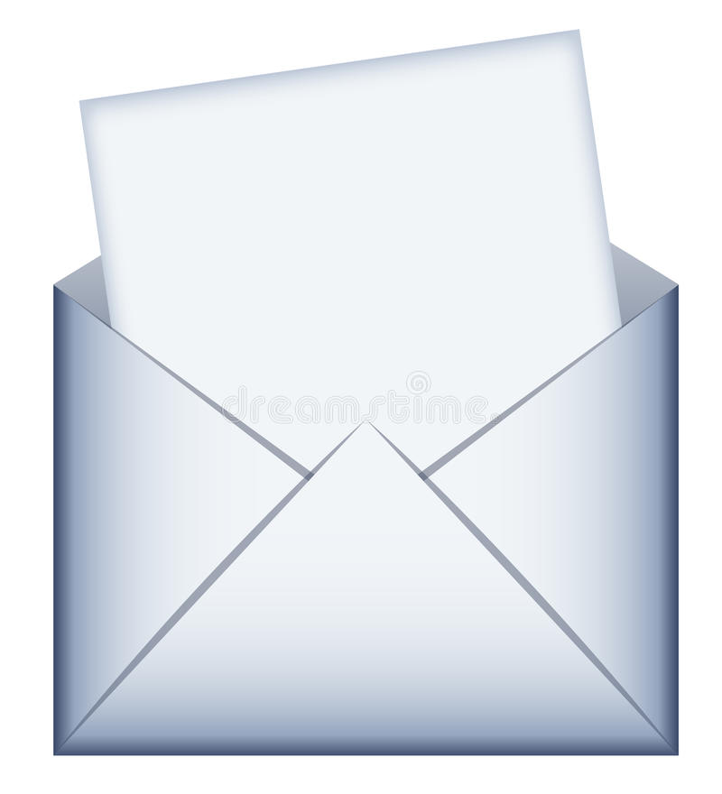 Envelope com mensagem vazia fotografia de stock