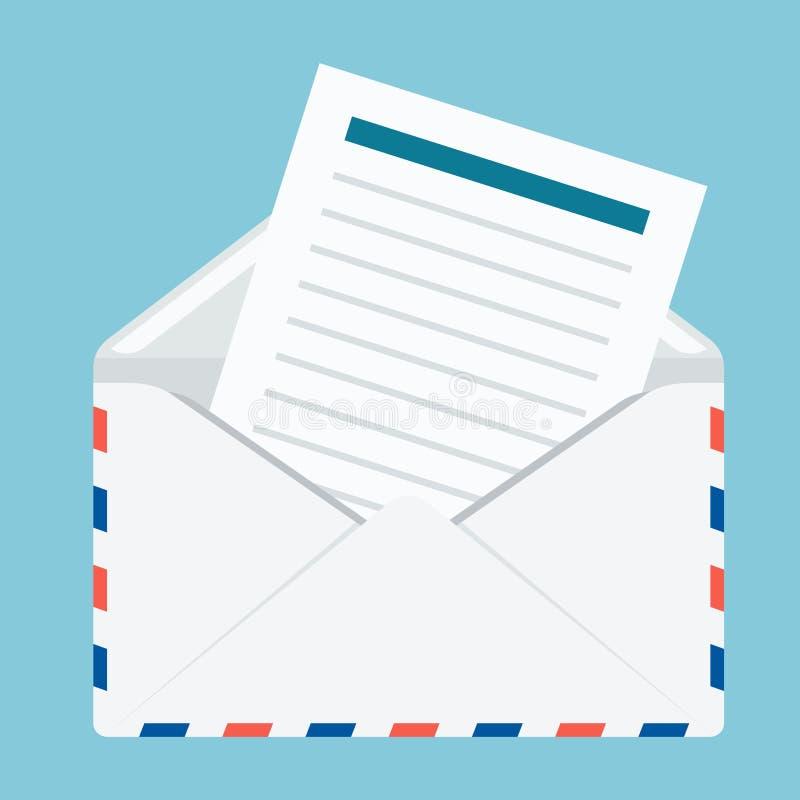 Envelope com tiras ilustração stock