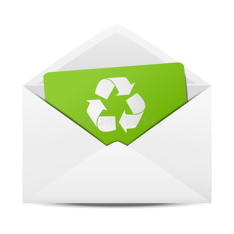 Envelope da ecologia ilustração do vetor